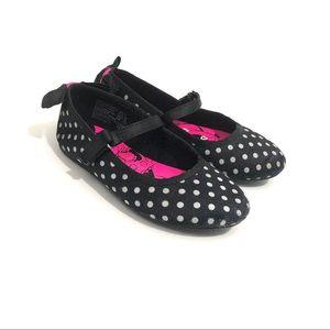 DISNEY Minnie Mouse Toddler Girl 8 Polka Dot Flats